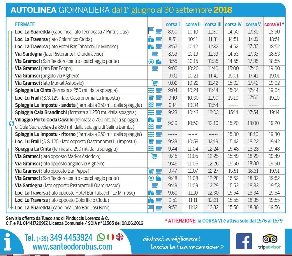 san teodoro beach bus train timetables and fares 2018 sardinia