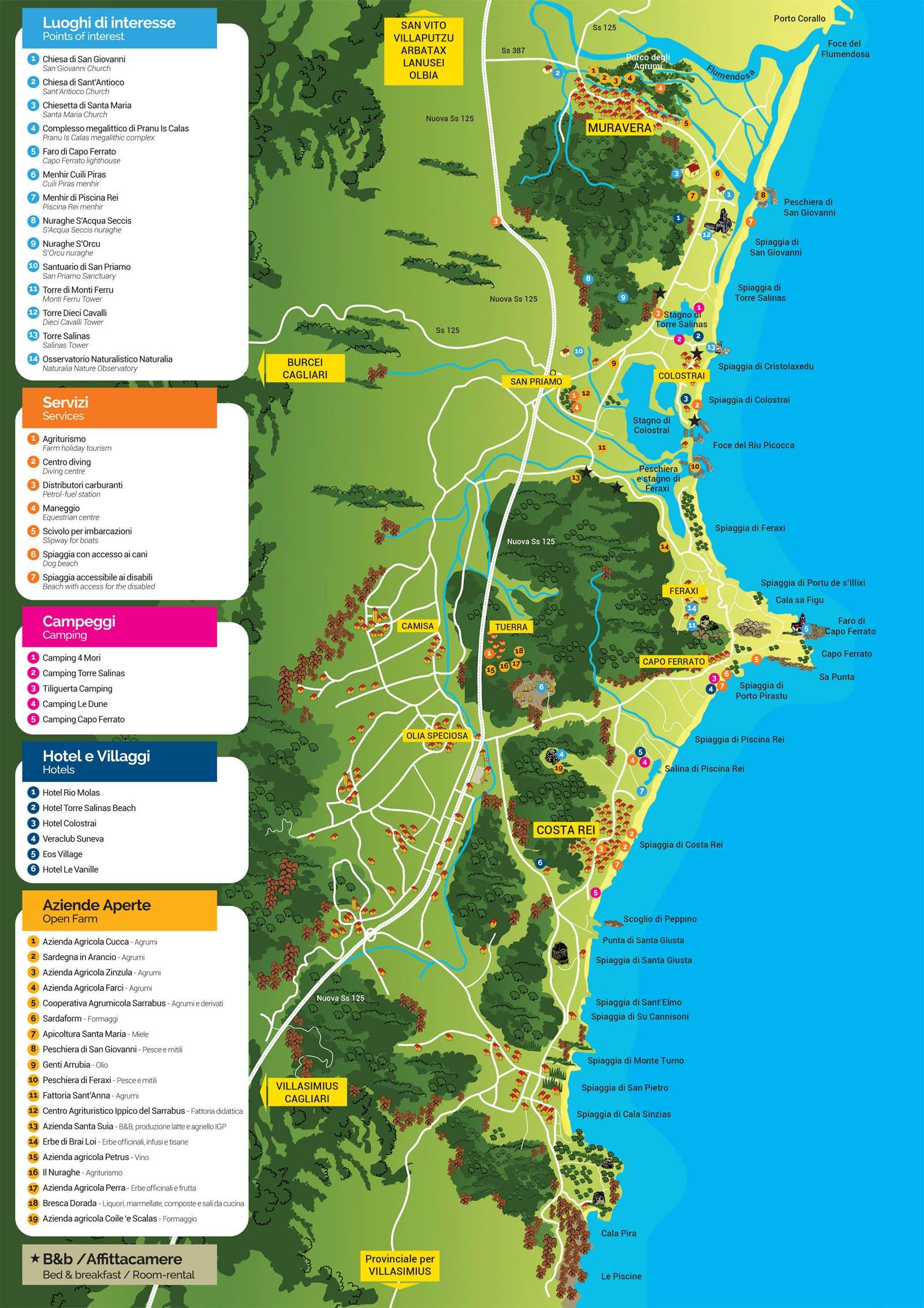 Spiagge Muravera Ecco Foto E Mappa Costa Rei Ma Non Solo