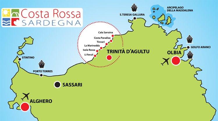 Spiagge costa paradiso e costa rossa sardegna for Alberghi budoni sardegna