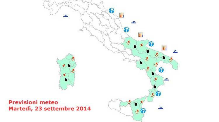 previsioni-tempo-sardegna-23-settembre 2014