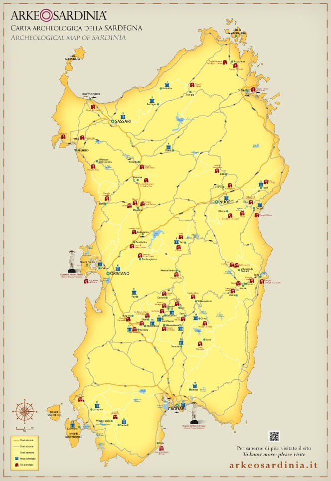 Cartina Archeologica Sardegna.Cartina Archeologica Della Sardegna