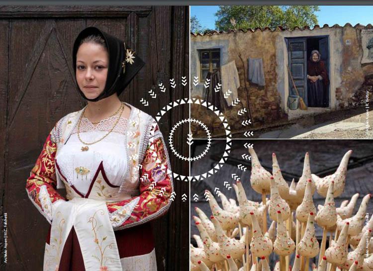 Murales, costumi tradizionali e tradizioni a Fonni per Cortes Apertas (foto dalla brochure dell'evento)