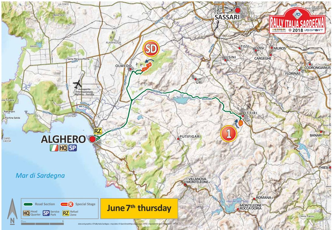 Cartina Sardegna Alghero.Rally Italia Sardegna 2018 Percorso Dal 7 Al 10 Giugno 2018
