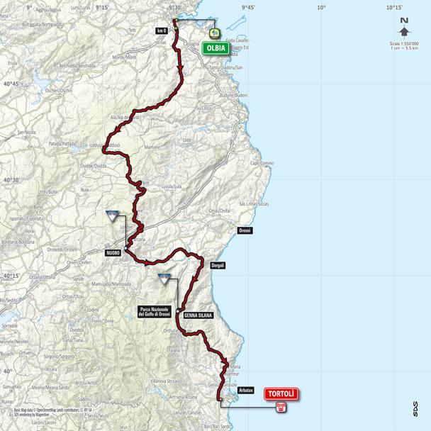Cartina Percorso Giro D Italia 2017.Giro D Italia 2017 In Sardegna Tutte Le Tappe