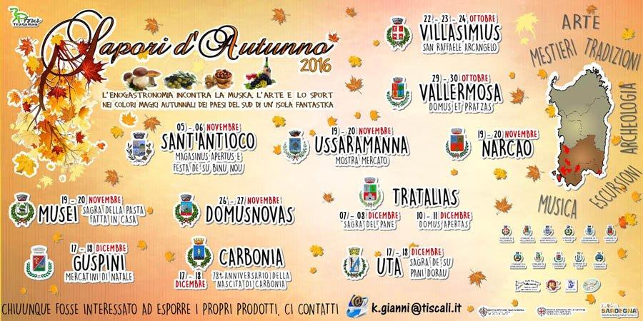 Calendario Cortes Apertas 2019.Sapori D Autunno Sardegna 2016 Scopri Il Calendario Completo