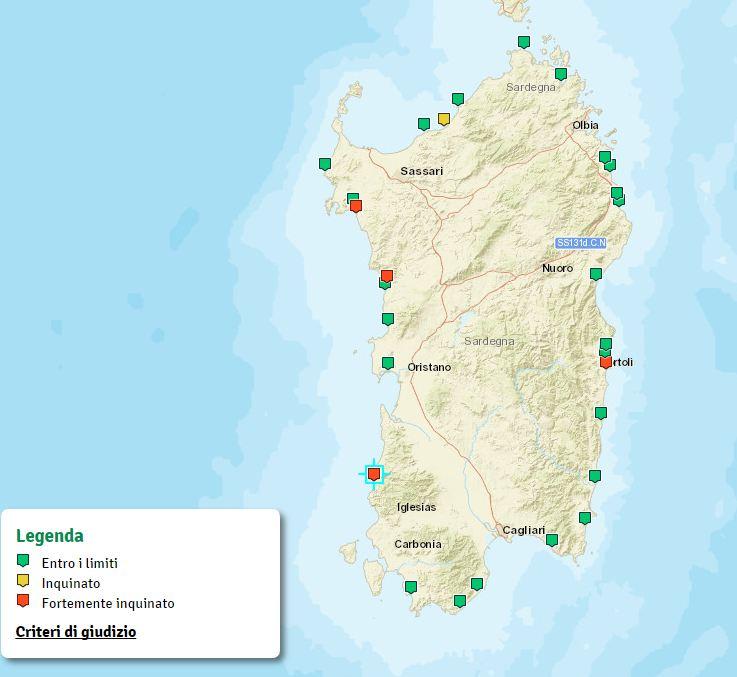Cartina Sardegna Fiumi.Goletta Verde 2017 Bilancio Positivo Per Il Mare Della Sardegna